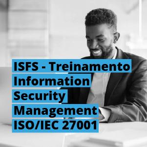 Treinamento Information Security Management ISO/IEC 27001